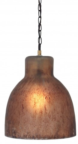 L000108 Brown Glass Pendant Light