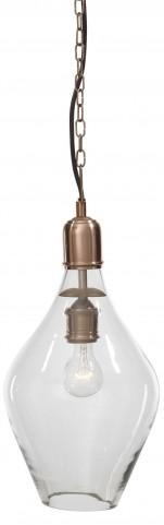 Gaenor Clear/Copper Glass Pendant Light