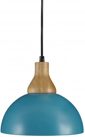 Idania Teal Metal Pendant Light