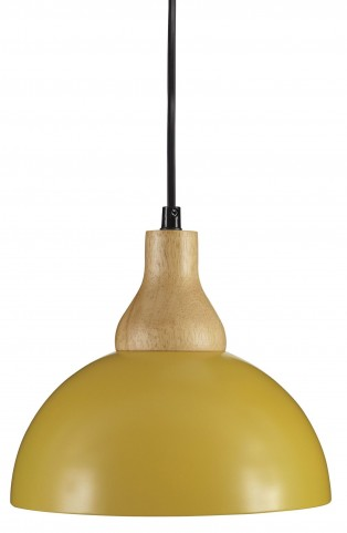 Idania Yellow Metal Pendant Light