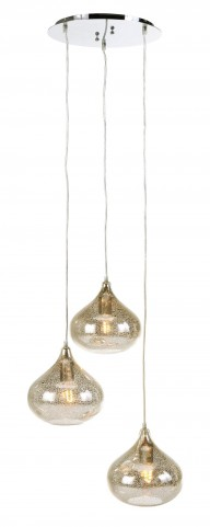 Jodoc Silver Glass Pendant Light