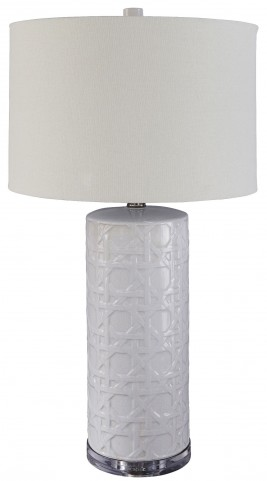 Solena White Ceramic Table Lamp