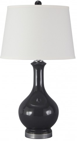 Shavonnia Blue Ceramic Table Lamp