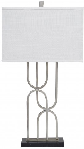 Darielle Silver Metal Table Lamp
