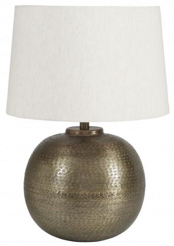 Darva Antique Brass Metal Table Lamp
