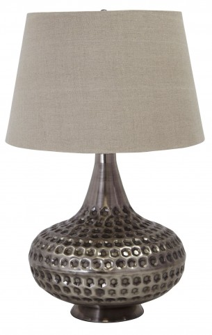 Pewter Metal Table Lamp