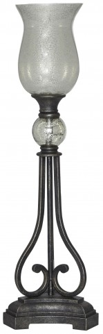 Akeelah Black and Silver Metal Table Lamp