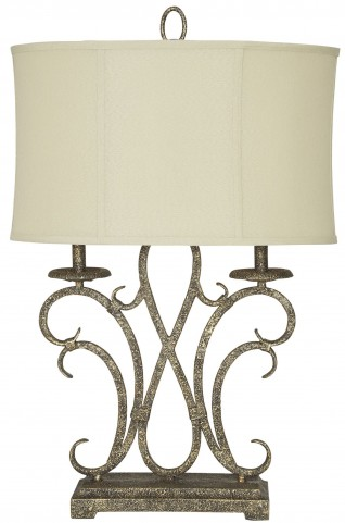 Aira Antique Gold Metal Table Lamp