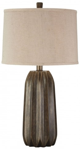 Khalil Gray Poly Table Lamp