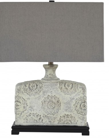 Antique White Table Lamp