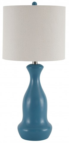 Stellina Teal Poly Table Lamp Set Of 2
