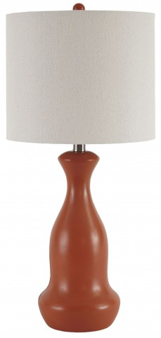 Stellina Orange Poly Table Lamp Set Of 2