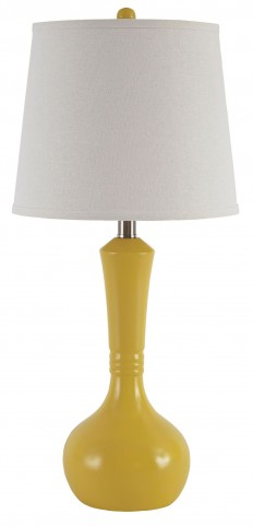 Synthie Yellow Poly Table Lamp Set Of 2