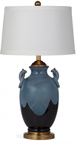 Marion Blue And Black Table Lamp