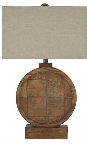 Natural/Brown Wood Table Lamp