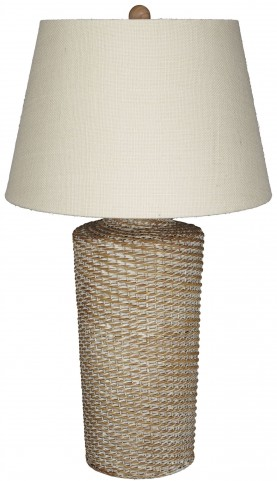 Stefenney White Wash Rattan Table Lamp