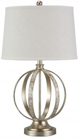 Shaunnea Silver Leaf Metal Table Lamp