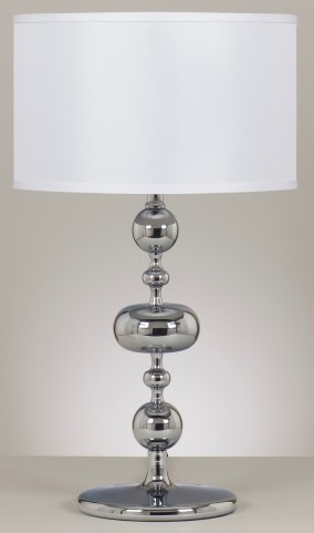 Raschel Chrome Metal Table Lamp Set of 2