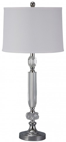 Tajo Silver Crystal Table Lamp