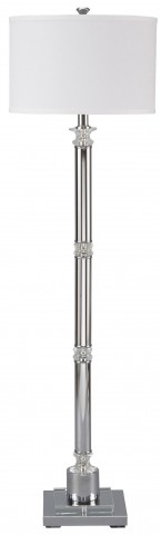 Marlon Silver Metal Floor Lamp