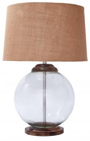 L430004 Transparent Glass Table Lamp