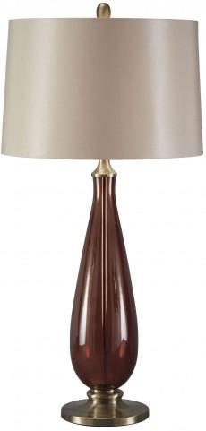 Sandera Amber Glass Table Lamp