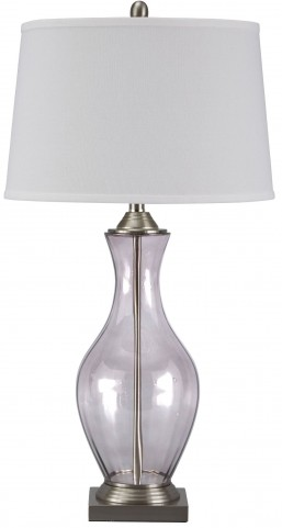 Shanita Gray Glass Table Lamp
