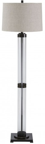 Talar Bronze Glass Floor Lamp