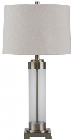 Talar Silver Glass Table Lamp