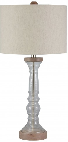 Tad Clear and Gray Glass Table Lamp