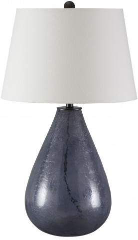 Taber Blue Glass Table Lamp