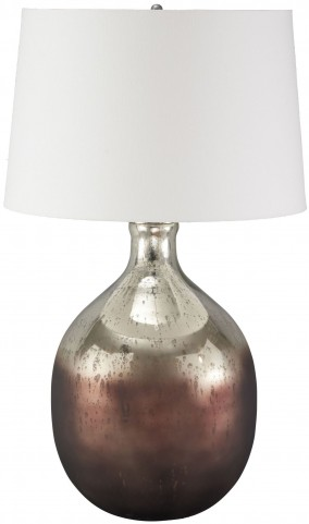 Tabish Mercury Glass and Brown Glass Table Lamp