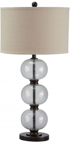 Maleko Bronze Glass Table Lamp