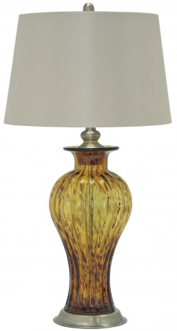 Ardal Amber Glass Table Lamp