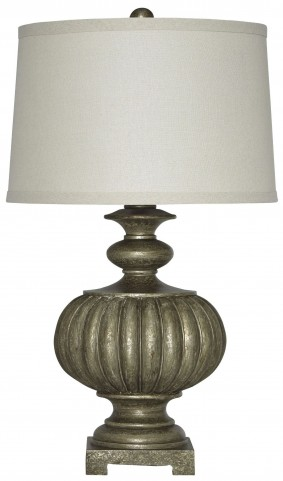 Araminta Antique Gray Poly Table Lamp