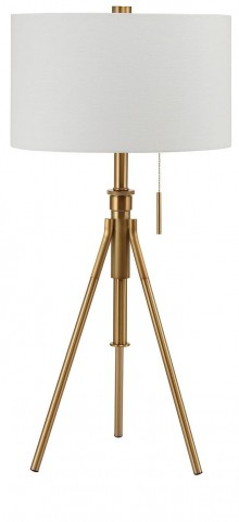 Zaya Extendable Gold Table Lamp