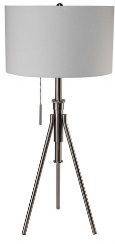 Zaya Extendable Silver Table Lamp