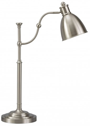 Shavaun Brushed Silver Metal Floor Lamp