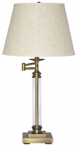 Arwel Antique Brass Glass Table Lamp