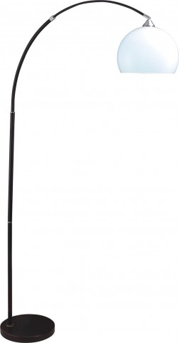 Tarr Black and Chrome Arch Lamp