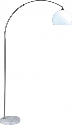 Tarr Silver and Chrome Arch Lamp