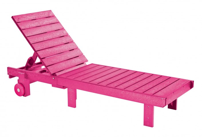 Generations Fuschia Chaise Lounge with wheels