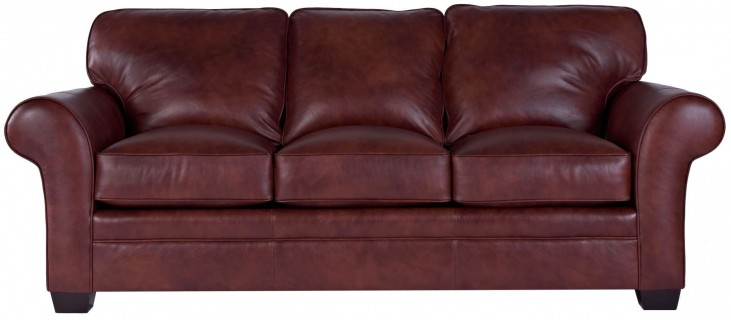 Zachary Leather Affinity Top Grain Leather Queen Goodnight Sleeper