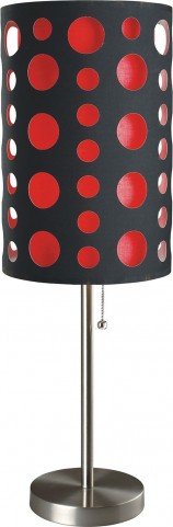 Hoolie Black And Red Table Lamp