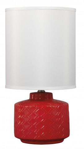 Red Ceramic Table Lamp