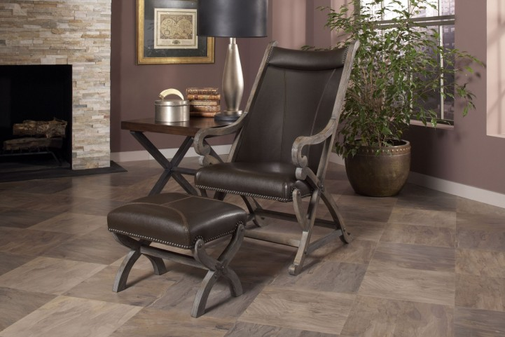 Hunter Brown Chair & Ottoman