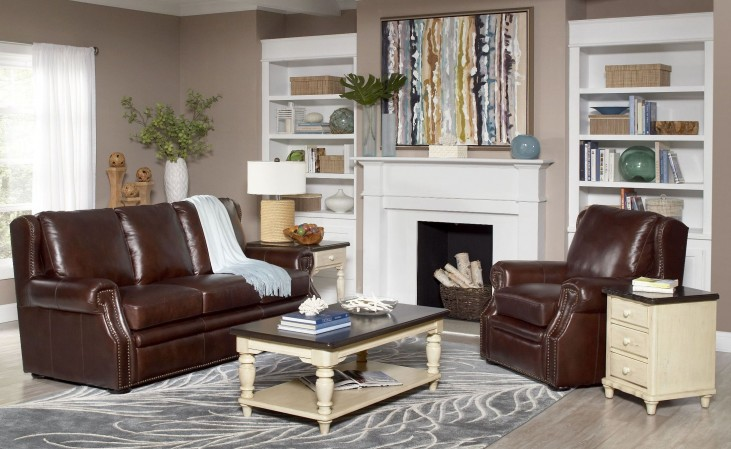 Colorado Springs Canyon Brown Living Room Set