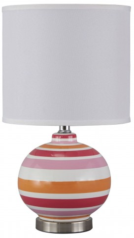 Sirene Pink & Orange Ceramic Table Lamp