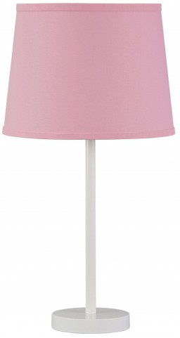 Shonie White & Pink Metal Table Lamp