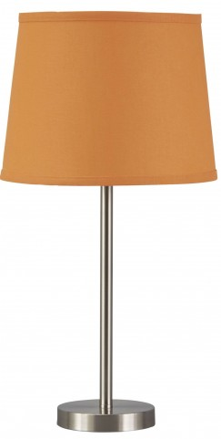 Shonie Orange & Silver Metal Table Lamp